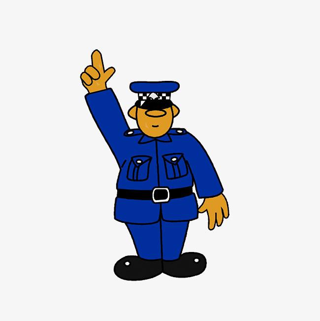 卡通交警手势