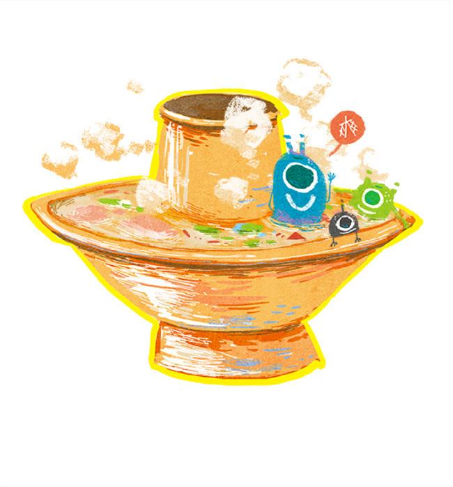 手绘卡通_手绘火锅png素材-90设计
