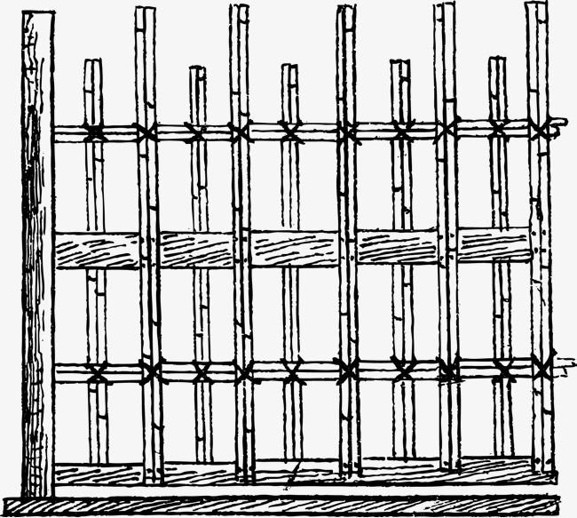 欧式栅栏手绘图