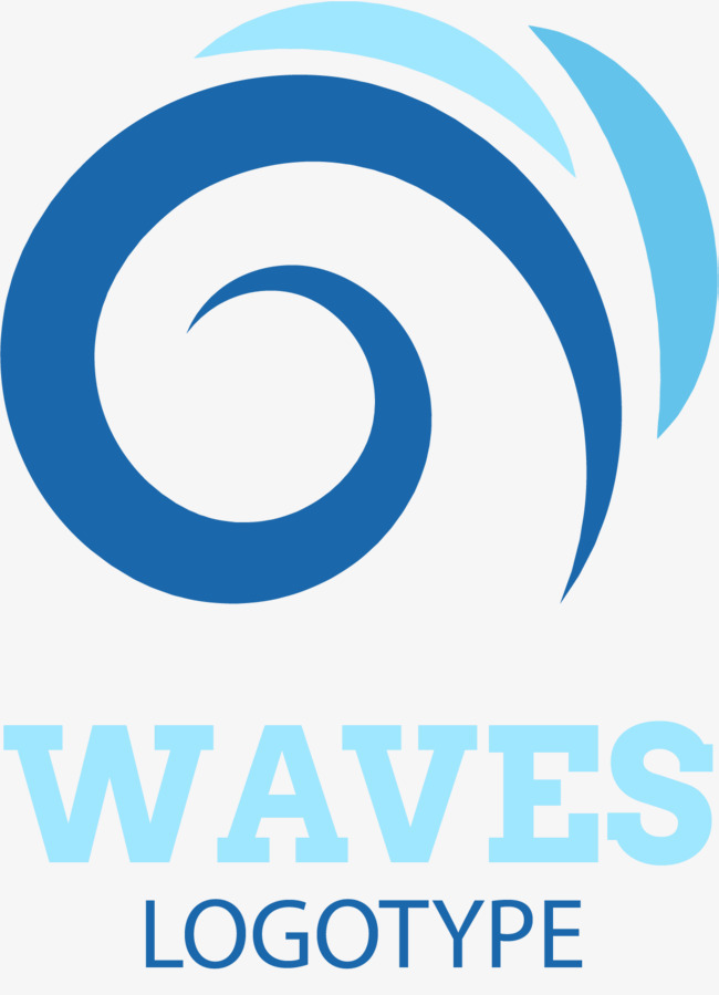 蓝色海浪波浪曲线