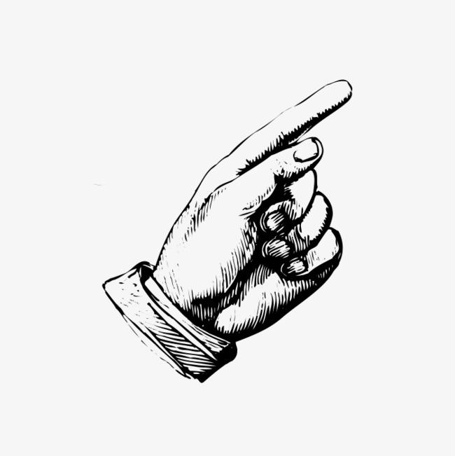 一只手简图