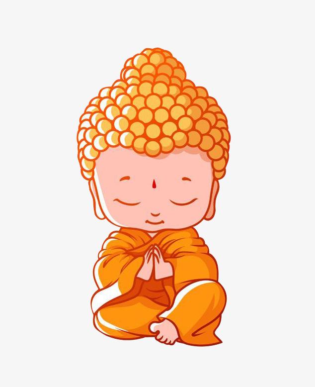 卡通q版释迦牟尼佛双手合十坐像图片