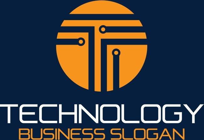 橙色科技电子公司标识logo