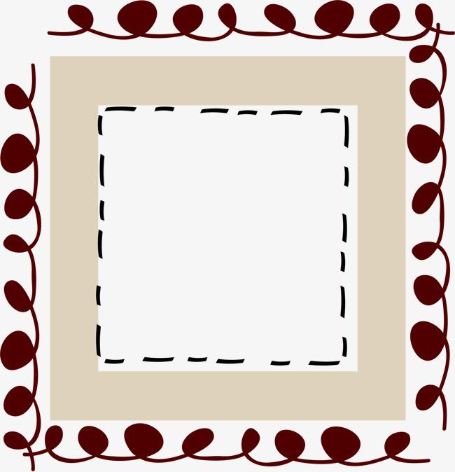 卡通手绘方形边框素材图片免费下载 高清边框纹理psd 千库网 图片编号1189740图片