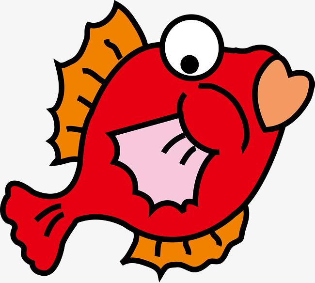 矢量红色小鱼图片