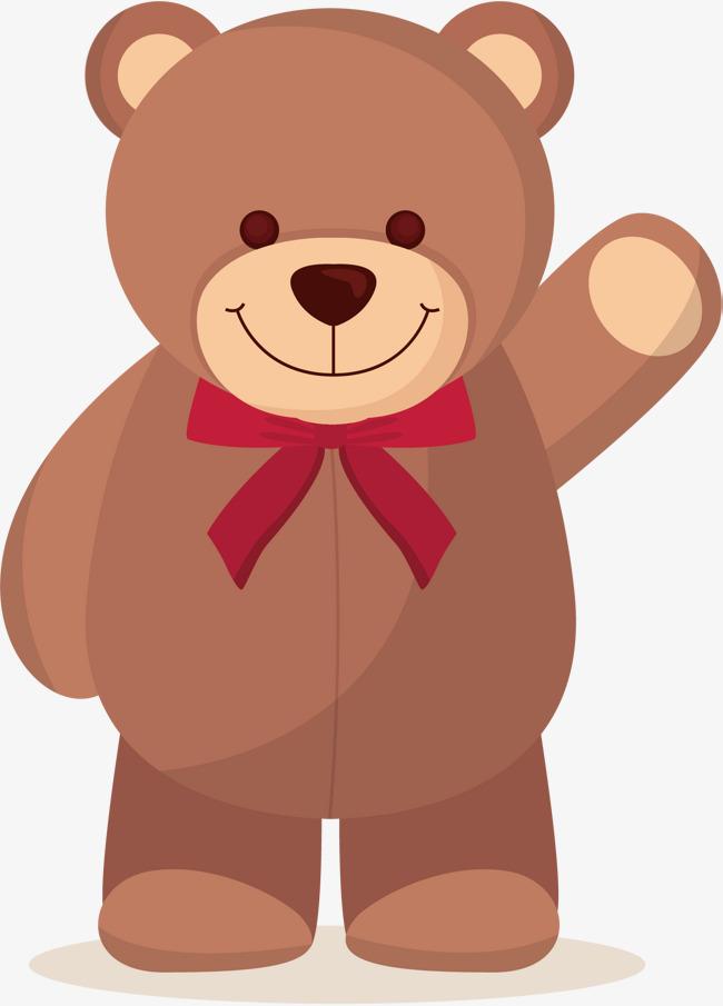 矢量手绘可爱小熊