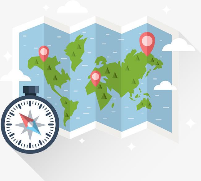 定向越野地图指南针图片