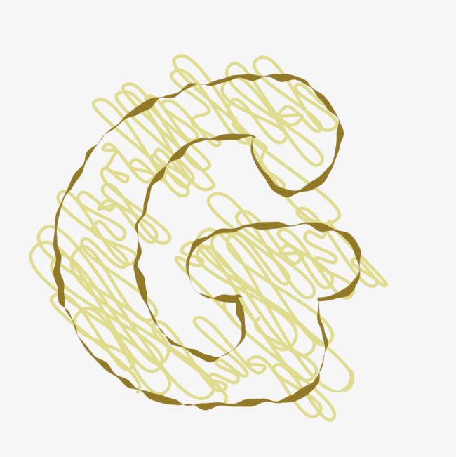 手绘线条字母g