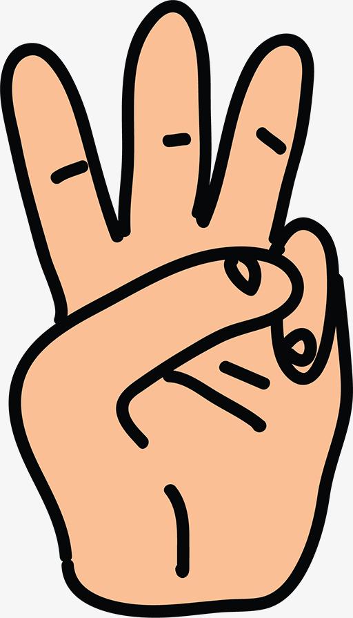 Cartoon Characters 3 Fingers : 三根手指头素材图片免费下载 高清png 千库网 图片编号