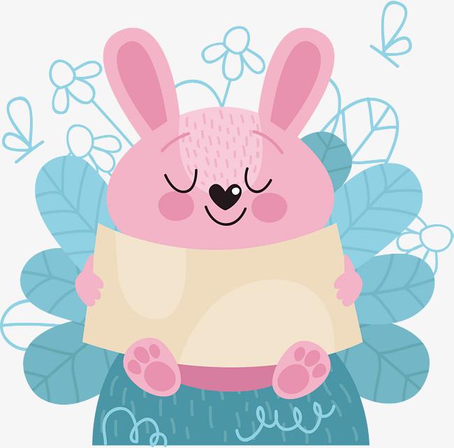 粉色可爱兔子标题框png素材下载_高清图片png格式(:)