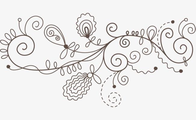 手绘古典藤蔓