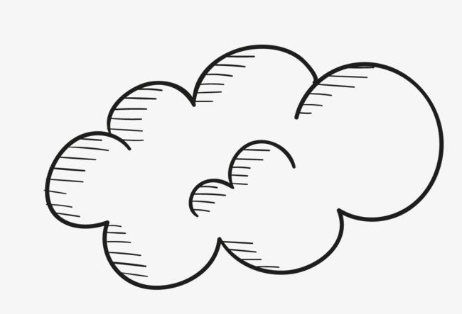 云朵简笔画可爱型