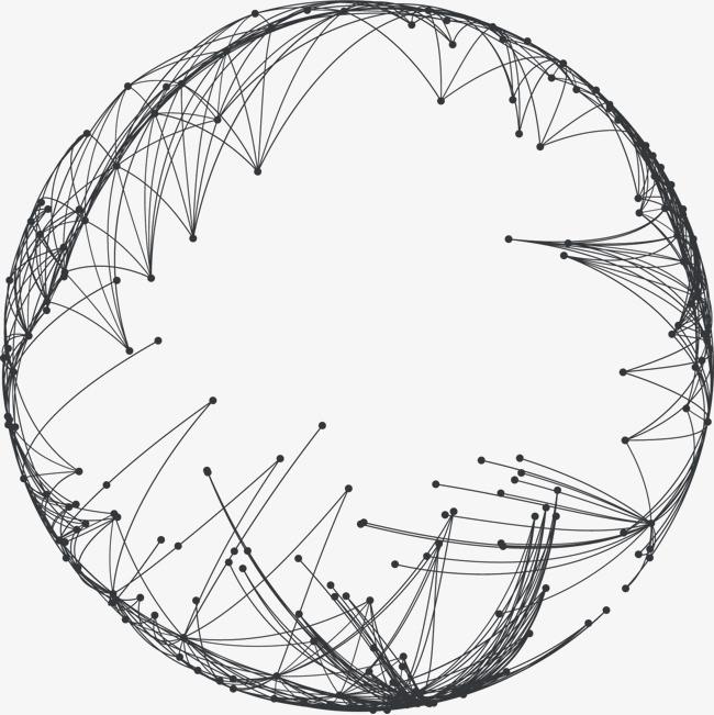 矢量手绘圆形