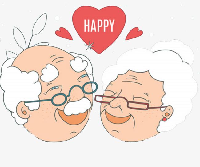 白发老人夫妻图片
