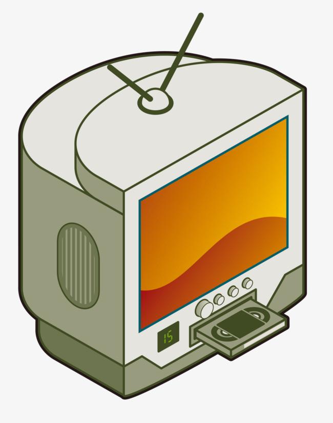 卡通电视机素材图片