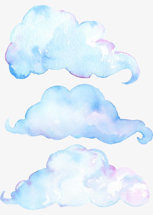 手绘云朵装饰图案