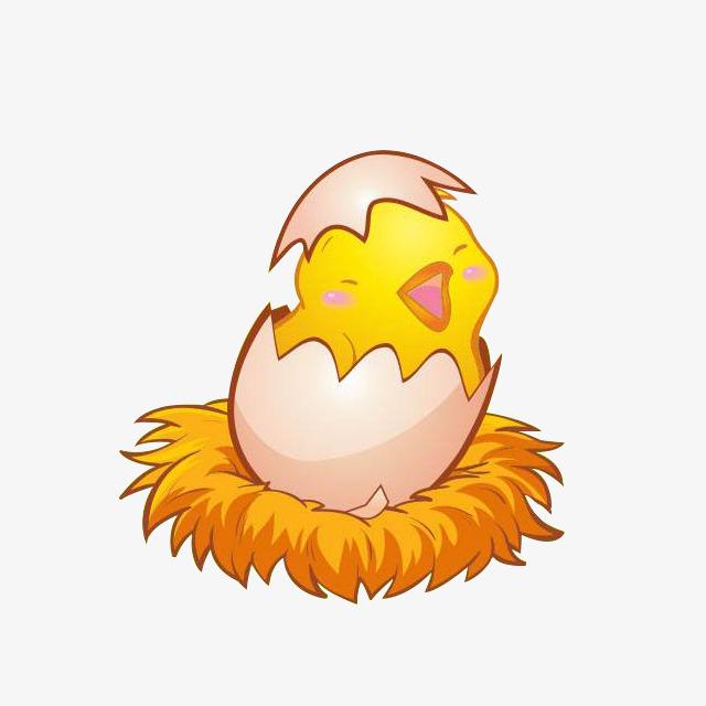 卡通破壳而出的小鸡素材图片免费下载_高清png