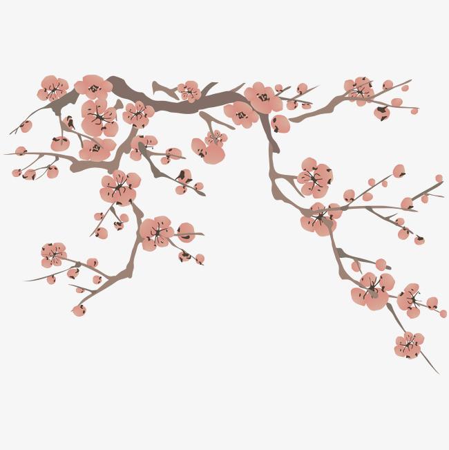 手绘画 桃花 花朵 矢量图 装饰 矢量装饰             此素材是90