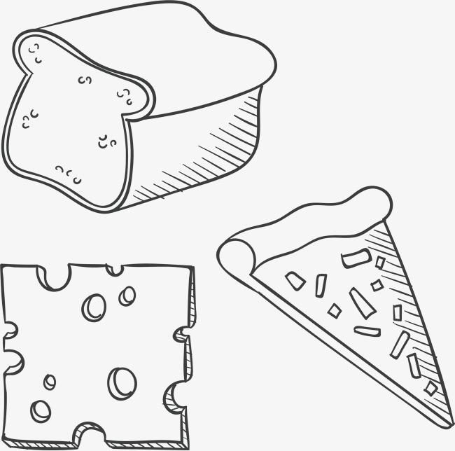 手绘披萨简笔画