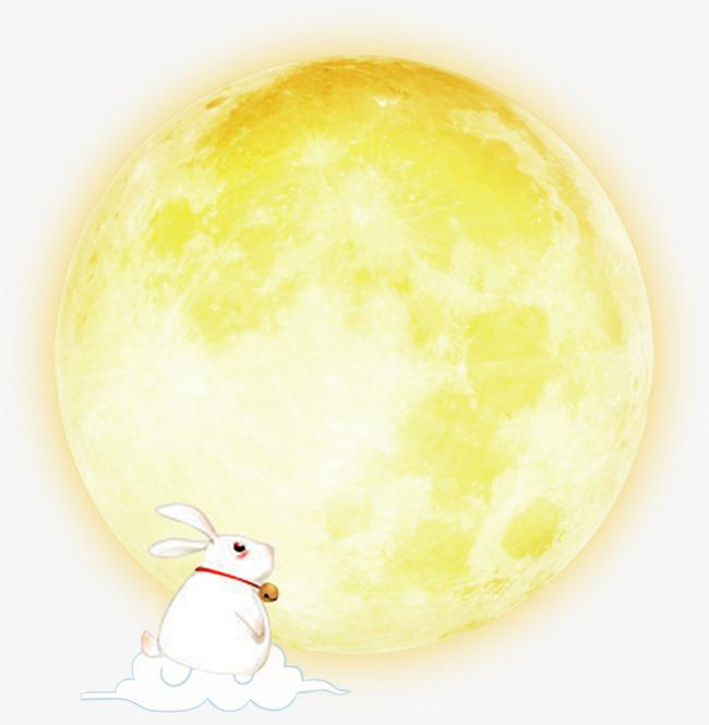 p70中秋装饰月亮兔子抠像抠图素材