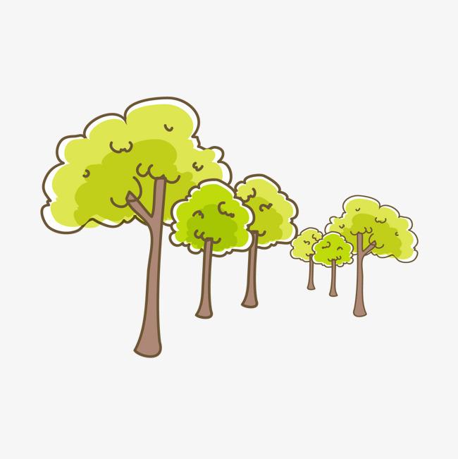 卡通手绘树