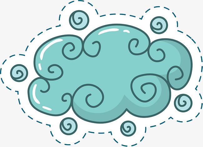 可爱卡通蓝色云朵