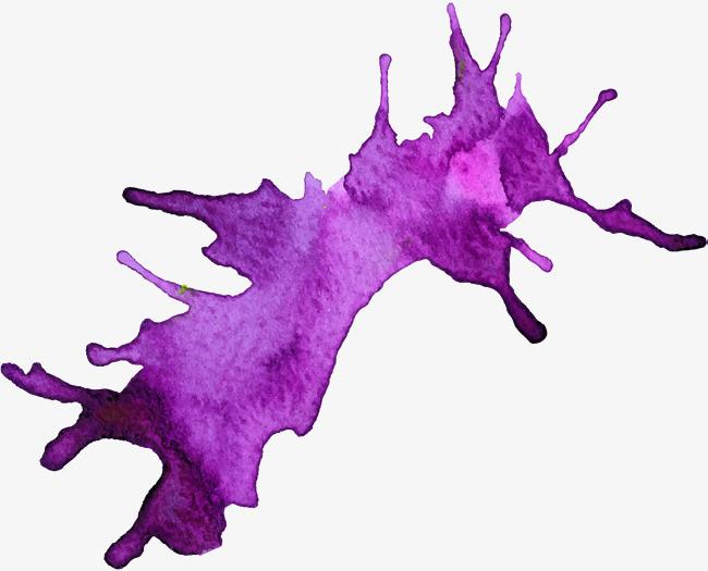 小清新紫色水彩