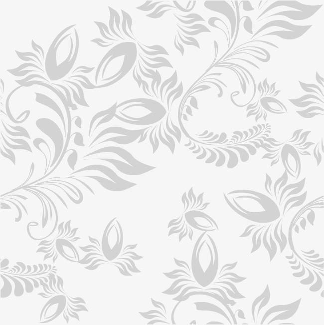 手绘灰色藤蔓