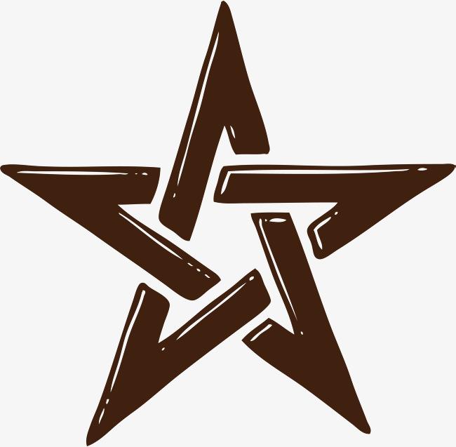 几何手绘五角星