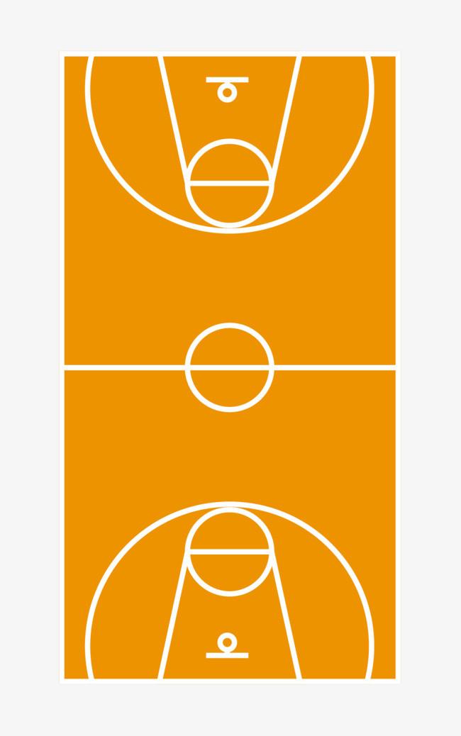 篮球 篮球场 场地 卡通版 卡通篮球场 黄色             此素材是90图片