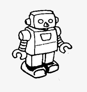 手绘机器人素材图片免费下载 高清png 千库网 图片编号8685383