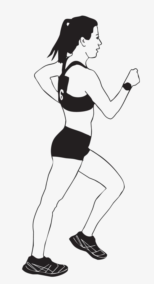 手绘画 人物 跑步 矢量图 装饰 矢量装饰             此素材是90
