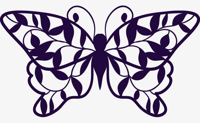 手绘黑白蝴蝶