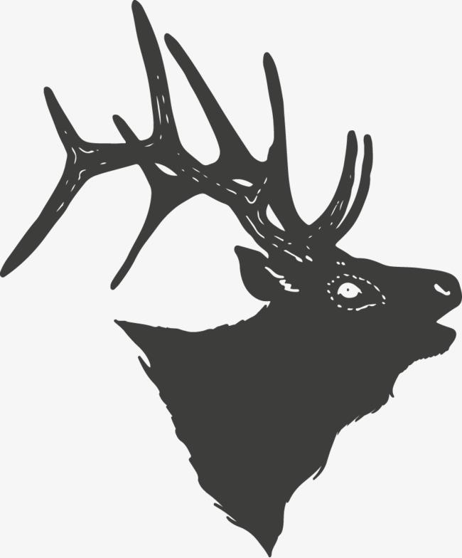小鹿大树屏风矢量图
