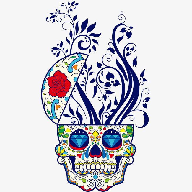手绘彩色花朵海报
