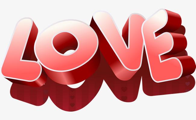 love立体字体