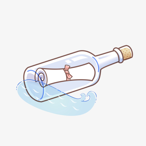 手绘漂流瓶