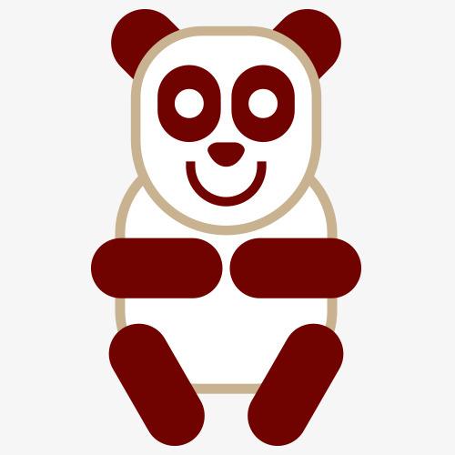 卡通熊猫_png素材免费下载_ 500*500像素(编号:)_90