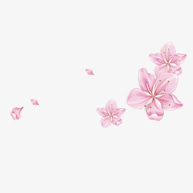桃花手绘花瓣免抠图像