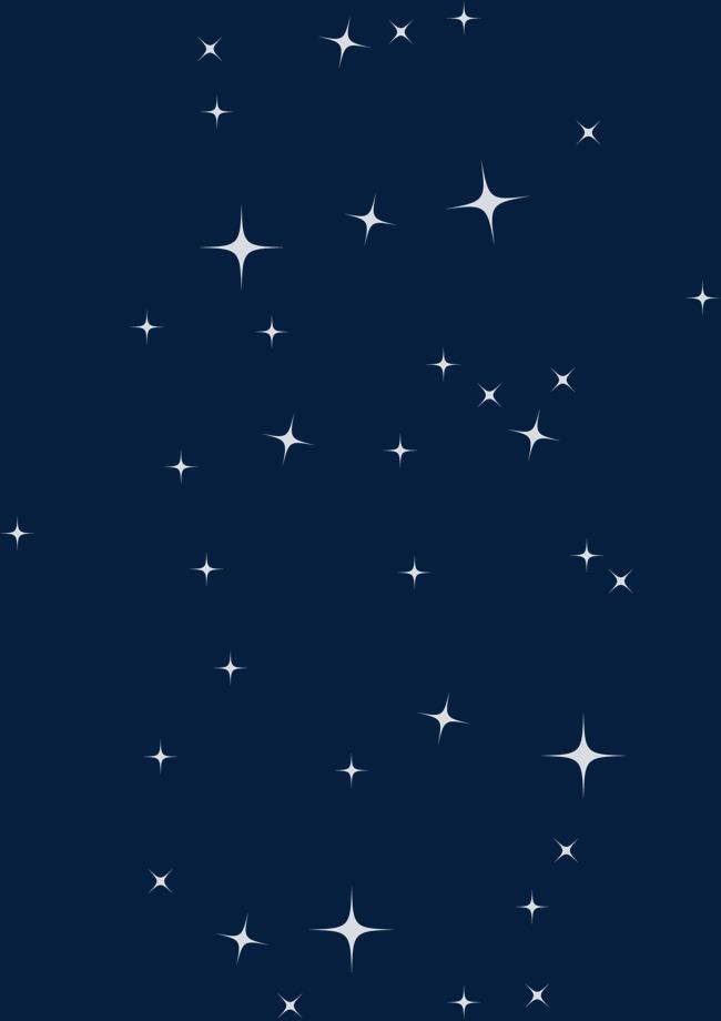 手绘满天星星