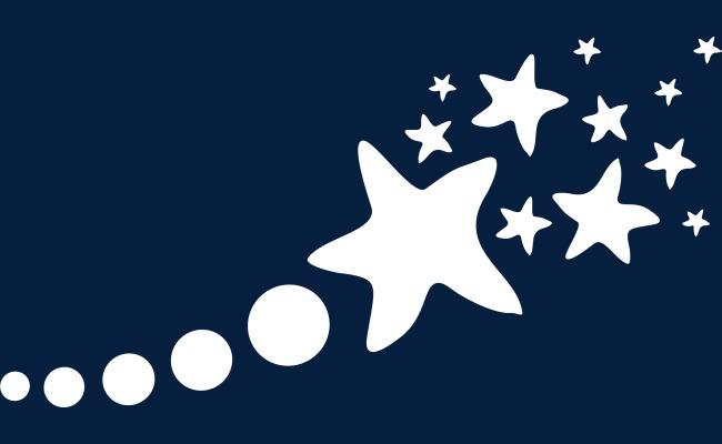 手绘白色星星