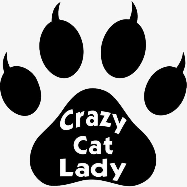 图片 > 【png】 黑白疯狂猫咪脚印  分类:手绘动漫 类目:其他 格式
