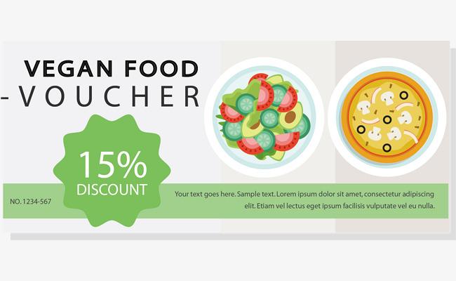 矢量食物沙拉优惠券png素材-90设计