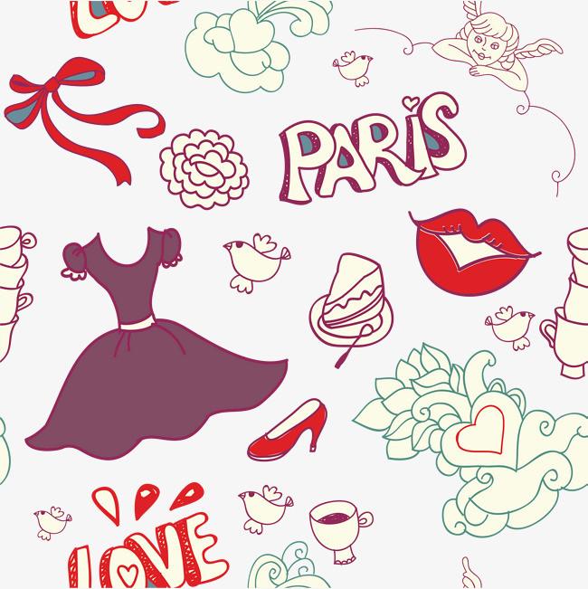 图片 > 【png】 矢量手绘彩色衣服海报  分类:手绘动漫 类目:其他