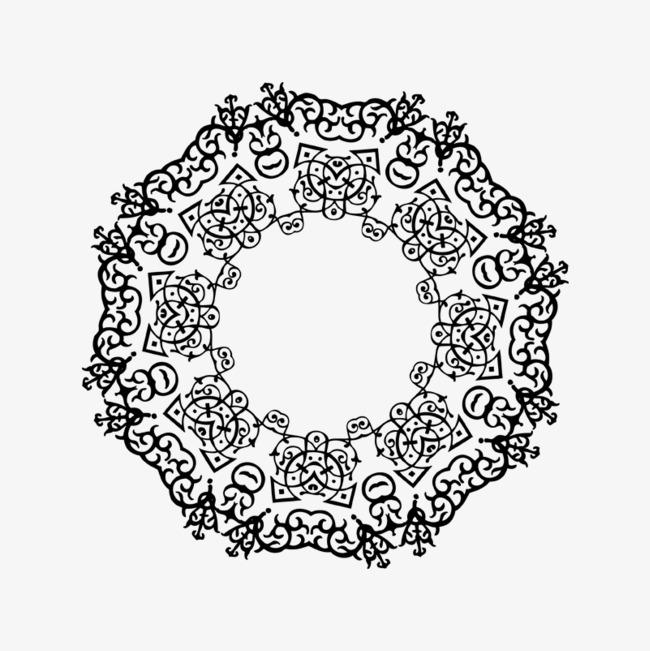 黑色古风圆圈_png素材免费下载_ 800*800像素(编号:)