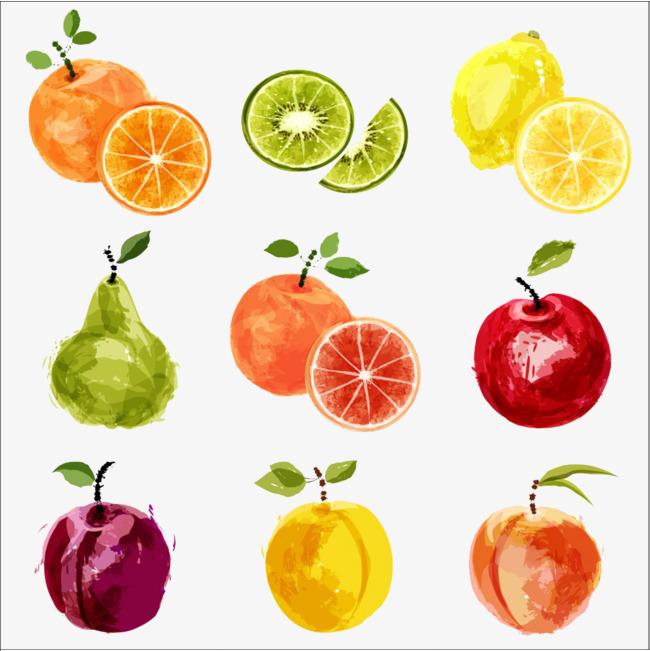 水果九宫格手绘图案