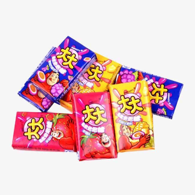 大大泡泡糖广告音乐_大大泡泡糖熊孩子图片