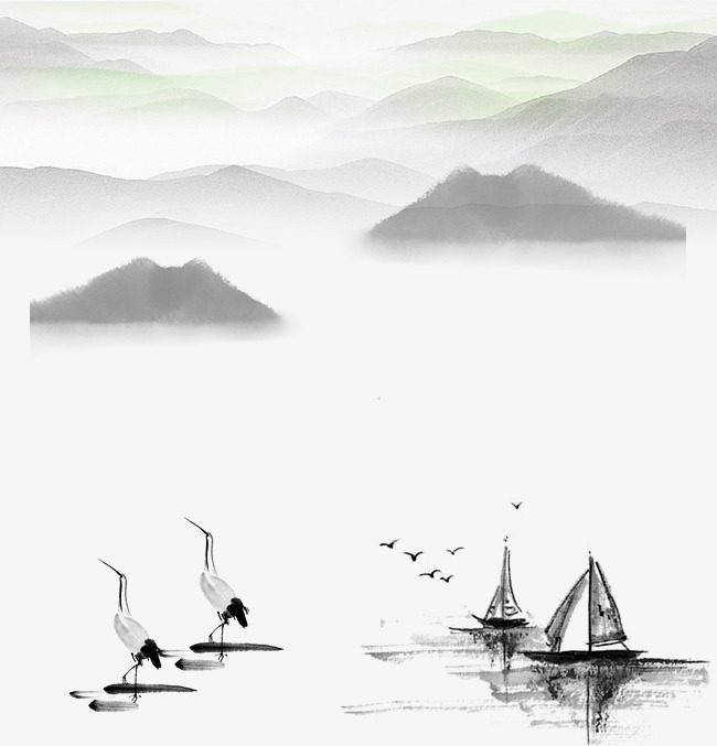 图片 国风首页 > 【png】 江水远山风景中国风  分类:手绘动漫 类目