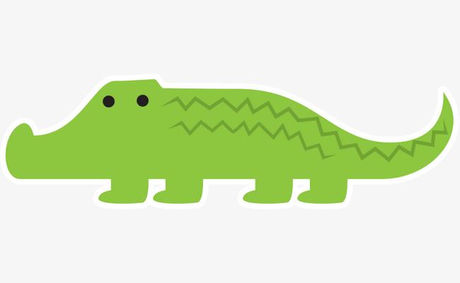 90设计提供高清png手绘动漫素材免费下载,本次手绘绿色鳄鱼作品为设计