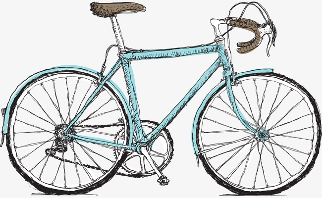 矢量手绘自行车